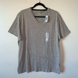 3/$30 Old Navy NWT grey heathered V neck XL shirt